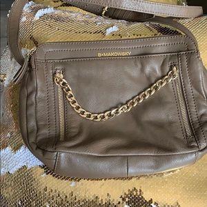 Beautiful dark tan cross body leather